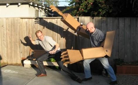 Insolite du crowdfunding : Cartonzord le robot
